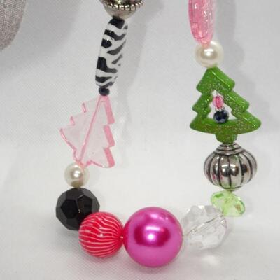 Festive Neon Colors Christmas Bling Necklace