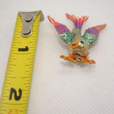 Colorful Spring Time Bird Brooch