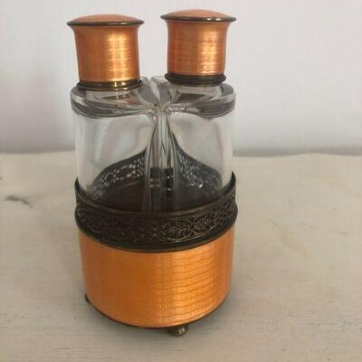 Vintage Dual Perfume Bottle Deco