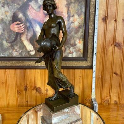 Otto Schmidt-Hofer bronze woman sculpture