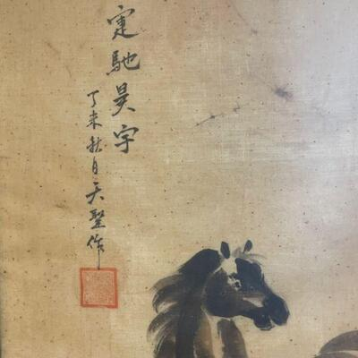 Oriental wild Stallion original  artwork / signed