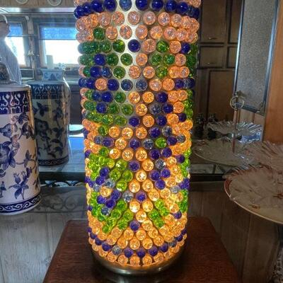 Jeweled bubble lamp