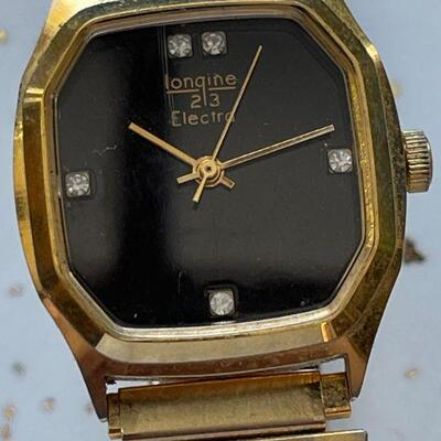 Longine's model 23 Electric Men's Watch / Diamonds