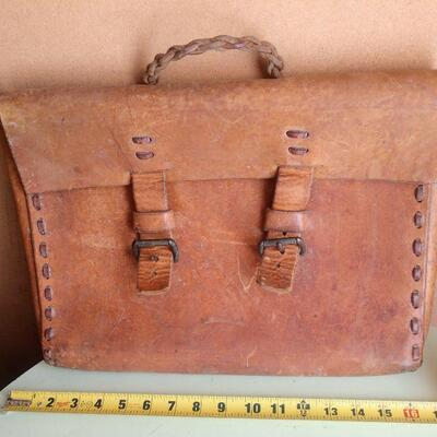 Lot 17 Old School Leather Briefcase