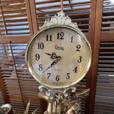 Crosa Figural Table Top Clock