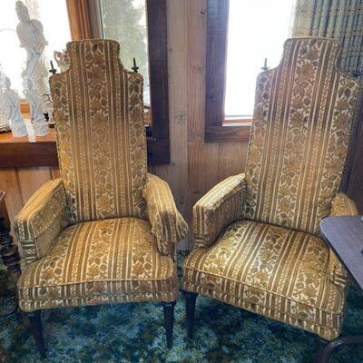 Pair of Oriental Xu Dong High Back Chairs