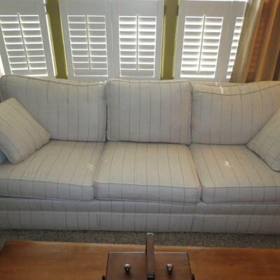 Ethan Allen Couch Sofa Stripes - Item # 1