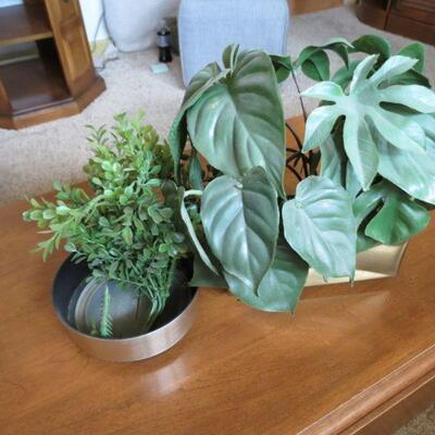 Two Artificial Plants with Planters - Item # 28