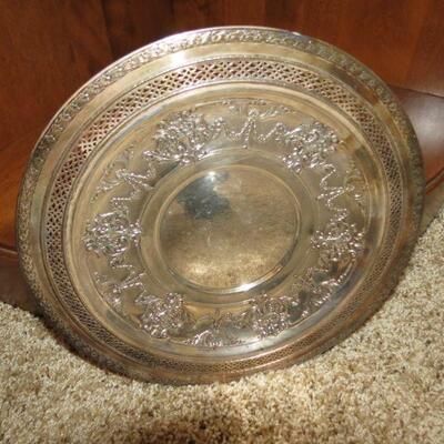 Vintage Silver Plate Tray 12