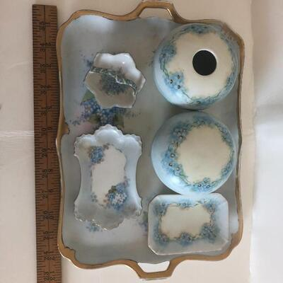 Hand painted dresser set porcelain