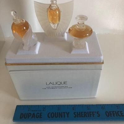 Unused Lalique perfume set