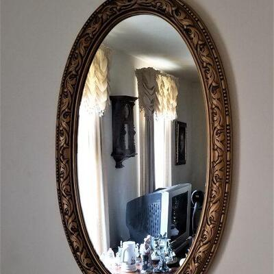 Lot #18  Vintage Oval Wall Mirror