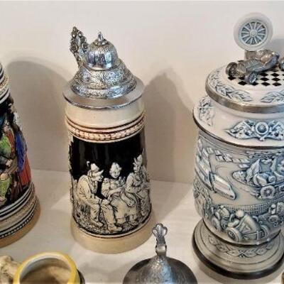 Lot #20  Lot of German and West German Decorative Steins