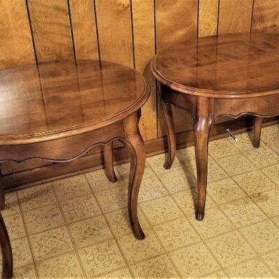Lot #28  Pair of Ethan Allen lamp tables
