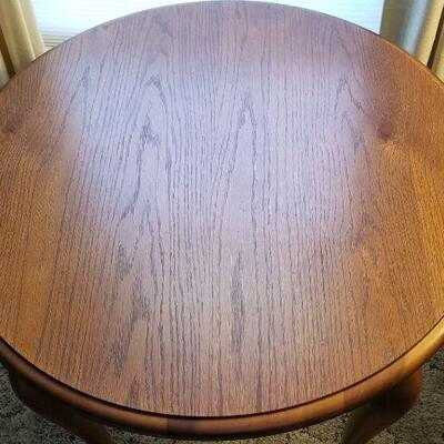 Lot #30 Round Solid Wood Lamp/Side Table