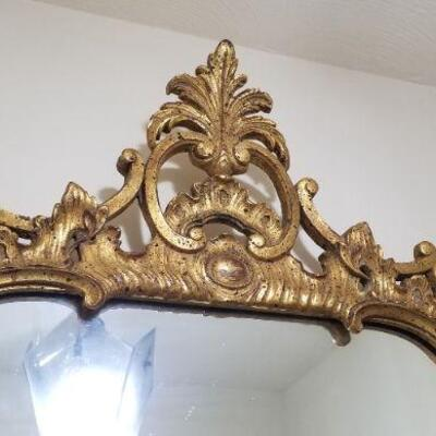 Lot #37  GORGEOUS Vintage Wall Mirror - HEAVY