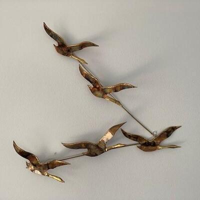 LOT#4MB1: Copper Goose Wall Décor