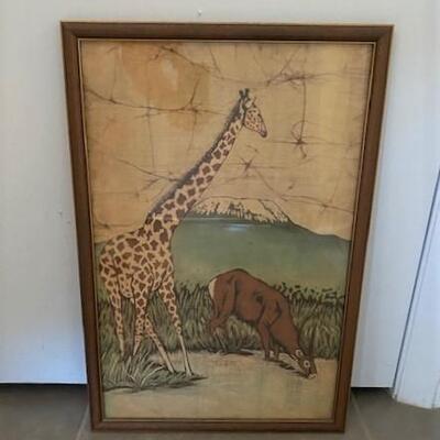 LOT#9MB1: Illegibly Signed Artwork  (Africa)
