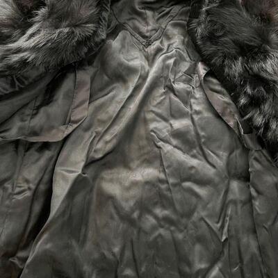 Fun shaggy woman's fur coat