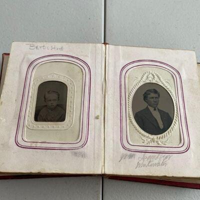 Antique photo album full of vintage pictures
