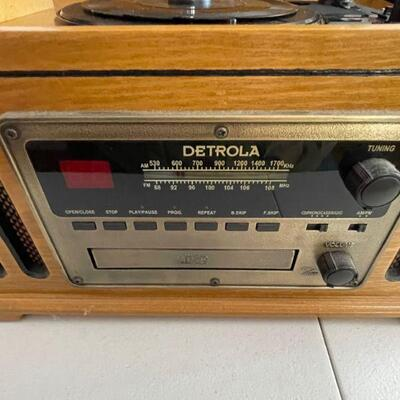 Detrola LP player, CD and Cassette player
