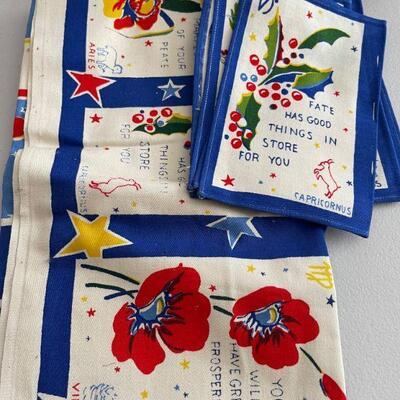 Astrological sign napkin & tablecloth set