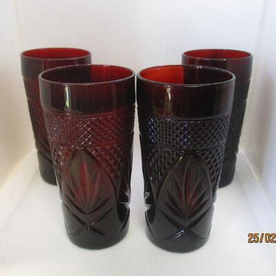 Lot 2 - Set of 4 Ruby Glass Coolers
