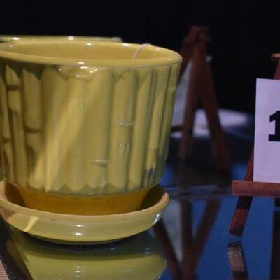 McCoy Bamboo Pot & Saucer
