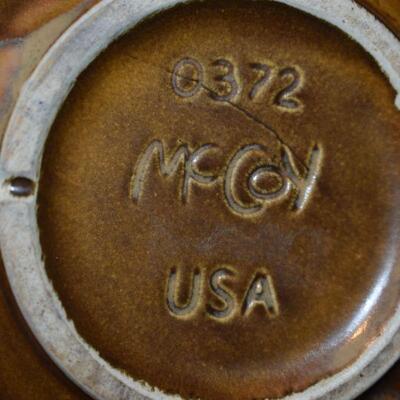 1970 Green thumb Pot & Saucer - Brown Drip