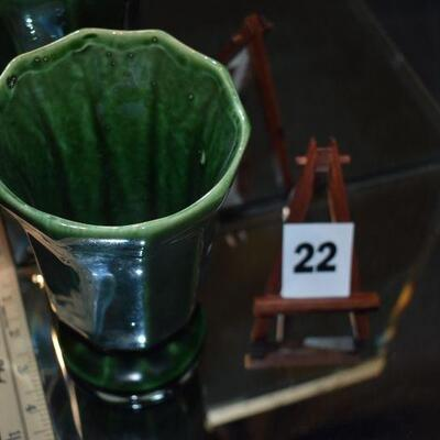 1956 McCoy Dark Green Vase