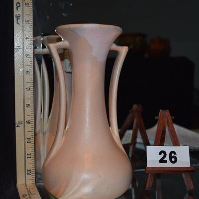 McCoy 2-Handled Pink Vase