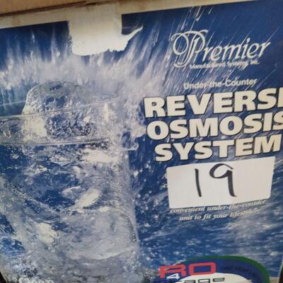 lot 19 - Premier Reverse osmosis system