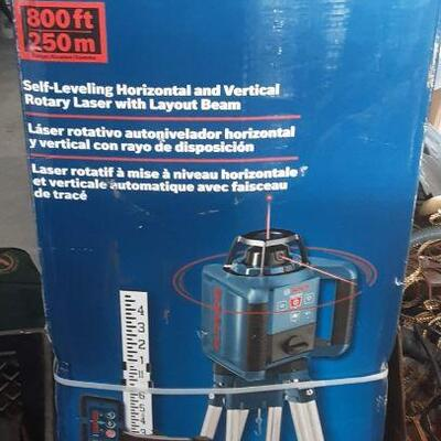 lot 21 - Bosch 800' self-leveling rotary laser with layout beam, in original box
