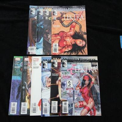 Elektra Lot containing 10 issues. (2001,Marvel)  9.0 VF/NM