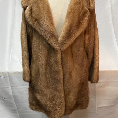 Vintage Robinson's California Light Brown Below the Hips Mink Ermine Fur Coat