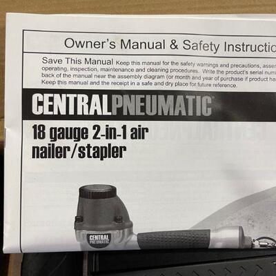 Central Pneumatic 18g 2-1 nailer/stapler
