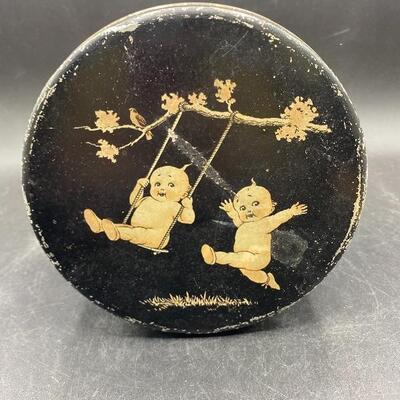 Small Round Vintage Kewpie Tin