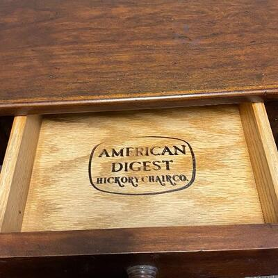 American Digest Collection End Table Nightstand by Hickory Chair Co.