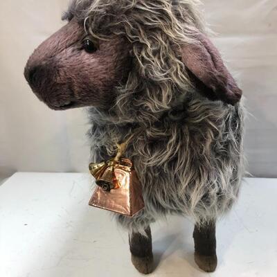Wooly Grey Sheep Plush Stuffed Animal by Hansa Creations