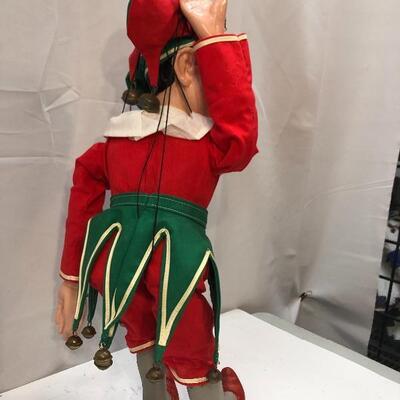Creepy Elf Jester Ventriloquist Marionette String Puppet
