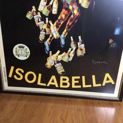 103 - Framed Vintage Liquor Poster
