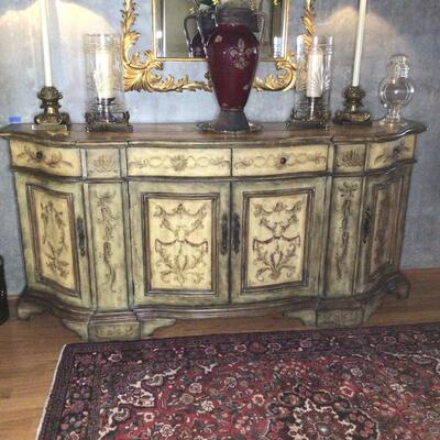 107 - Painted Furniture Buffet Sideboard - Seven Seas by Hooker - Mover Needed