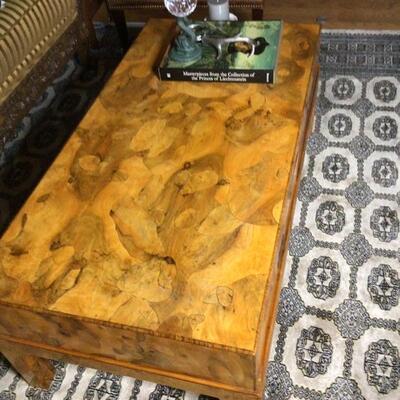 143 - Custom Italian Inlaid Wood Coffee Table
