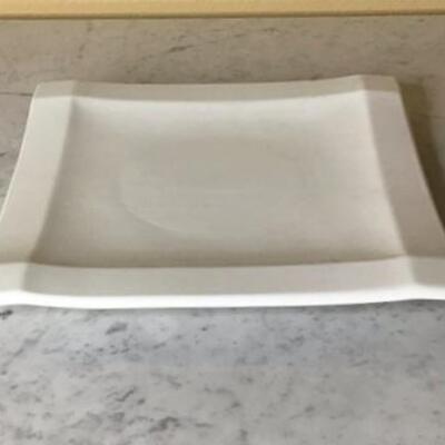 260 - (6) White Jam  Ceramica Dinner Plates