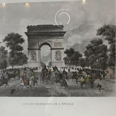 267 - Framed Antique Print