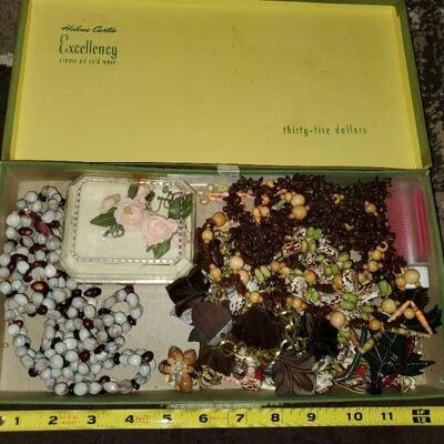 Box of Vintage Jewelry