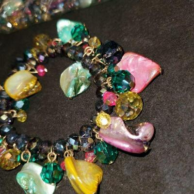 Multi colored bracelet and beads
