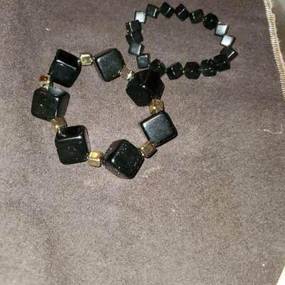 Black bracelets