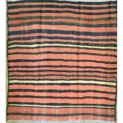 Authentic Persian Vintage Kilims Natural Wool 4'10