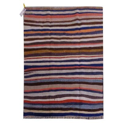 PERSIAN VINTAGE KILIM MADE WITH NATURAL WOOL AND COTTON 133x123cm Retail $1584